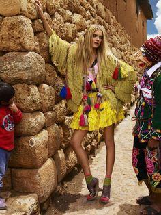 DARIA WERBOWY, LILY DONALDSON in Trail Blazers shot by MARIO TESTINO  Vogue UK 2008