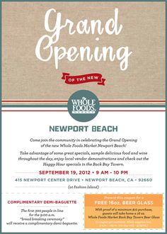 Whole Foods Market Newport Beach Grand Opening
