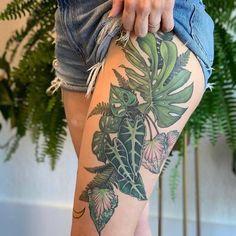 Rabbit Tattoos, Leg Tattoos, Tattoo Thigh, Plant Tattoo, Tattoos For Lovers, Animal Sewing Patterns, Nature Tattoos, Friend Photos, Skin Art