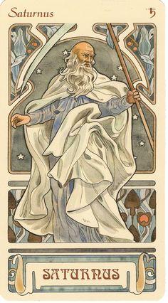 Saturn, ruling planet of Capricorn (and Aquarius in classical astrology) sternzeichen verseau vierge zodiaque Zodiac Art, Astrology Zodiac, Zodiac Signs, Art Zodiaque, Constellations, Alphonse Mucha Art, Jugendstil Design, Culture Art, Tarot Spreads