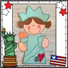 "Patriotic ""Statue of Liberty"" Craft: Summer or Presidents Day"