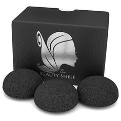 Konjac Sponge 3 Pack Activated Bamboo Charcoal Facial Cleansing Exfoliating Beauty Sponges ** Check this awesome image : Baby Skin Care Coconut Oil Cellulite, Cellulite Scrub, Acne Prone Skin, Oily Skin, Sensitive Skin, Coffee Face Scrub, Miami, Skin Detox, Beauty Sponge