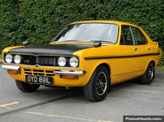 Hillman Avenger Tiger, think hey could look quite good if they were beefed up a bit, but wouldn't want to ruin one this clean Retro Cars, Vintage Cars, Antique Cars, Classic Cars British, British Car, Cool Car Stickers, Cool Old Cars, Derby Cars, Yellow Car