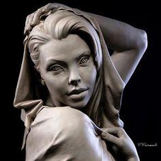 Sadie - #portraiture #blueeyedsculptures #drapery