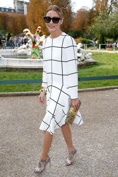 Olivia Palermo at the Chloe show in Paris. See all of the model's best looks.