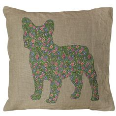 We love the NEW Frenchie Throw Pillow by Sugarboo Designs! #frenchie #pet #decor