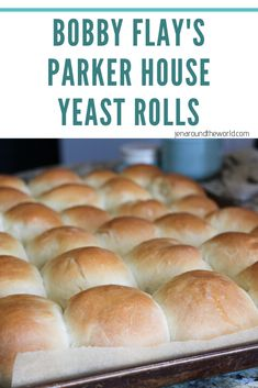 These yeast rolls are super easy to make and they are the exact Parker House Yeast Roll recipe that Bobby […] Best Yeast Rolls, Homemade Yeast Rolls, Homemade Dinner Rolls, Easy Recipe For Yeast Rolls, Best Rolls Recipe, Hot Roll Recipe, Yeast Dinner Rolls Recipe, Dinner Rolls Easy, Homemade Breads