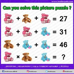 Can you solve this picture puzzle ? Get more brain teaser puzzle, number puzzle, alphabet puzzle and picture puzzle on Test 4 Exams. Math Puzzles Brain Teasers, Riddle Puzzles, Number Puzzles, Shape Puzzles, Logic Puzzles, Aptitude And Reasoning, Challenging Riddles, Play Quiz, Logic Games
