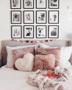 WEBSTA @liketoknow.it Download the @liketoknow.it app to shop @courtney_shields' pops of ❤️ and blush bedding details | http://liketk.it/2uqGb