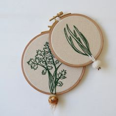 Veselka Bulkan is the person behind Little Herb Bouquet – an online shop where she sells her extraordinary, hand embroidered hoop art – mainly of clever little crafted vegetables, dangling off the edge...