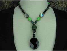 1/KIND Bold & Beautiful Necklace w/Onyx, Paua Shell and Ancient Glass!