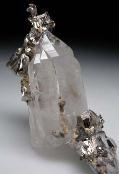 Arsenopyrite on Quartz from Panasquiera, Portugal