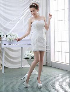 Vestido de Noiva Trapézio Coração Cauda Escova ( Renda ) – BRL R$ 478,77