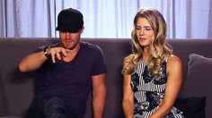 Stephen Amell and Emily Bett Rickards / Oliver and Felicity on Arrow GIF