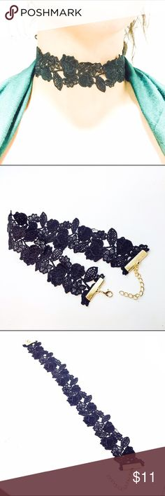 Adorable Designer Choker black Classy Glam Trendy NEW ARRIVALS!! & OHH SO HOT! A must have!  Adorable Black Choker Cute Collar Fashion Necklace Easy to wear. Goes Great with any outfit! Fast shipping!                             Adjustable Size!!!  Trendy Neckless! Trending Now! La Tends glLAam Jewelry Necklaces