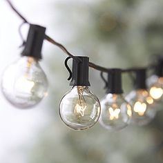 Globe String Light, ALightUp G30 / G40 / G50 100 Foot Light String with 125 Clear Bulbs, Indoor Outdoor Use, Christmas, Halloween, Garden, Party, Wedding, Patio, Backyard Decoration (G50, black) ** More info could be found at the image url.