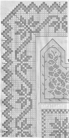 Crochet Borders, Filet Crochet, Knit Crochet, Crochet Patterns, Crochet Tablecloth, Linen Tablecloth, Pineapple Crochet, Crochet Flowers, Diagram
