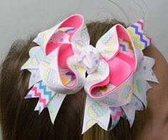 Happy Easter Marabou Boutique Bow-free shipping