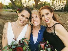 Our 2 models, Aubrey and Bailey with wedding planner Sydney from Olive and Belle.