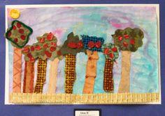 Field Elementary Art Blog!: 2nd Grade  fabric collage