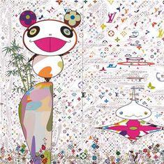 Takashi Murakami (b. 1962), 'The World of Sphere', (diptych), 2003, acrylic on canvas, 350 x 350 cm, est. HKD16 – 24 million / USD2.1– 3.1 million. Image courtesy Sotheby's.