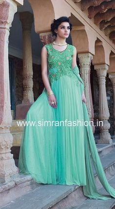 sea green shade gown