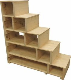 Stairs, steps & shelves can also be used as a standalone shelving unit.