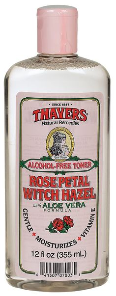 Thayers Rose Petal Witch Hazel - I love this product. It's really gentle on sensitive skin like mine because it's alcohol-free, and it smells good!
