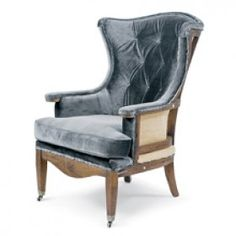 Estate Deconstructed Wing Chair-Charcoal