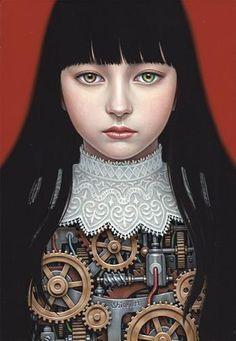 AWAKE -Saori- Shiori Matsumoto ノスタルジックな少女たちの世界を描く松本潮里の絵画作品集