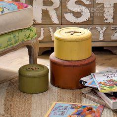 Metal Button Boxes, Decorative Storage ★ Creative Co-Op Home