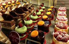 French Patisserie Desserts   French desserts, too many to choose from!