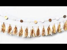 DIY - Banner de Ano Novo - YouTube
