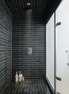 black shower
