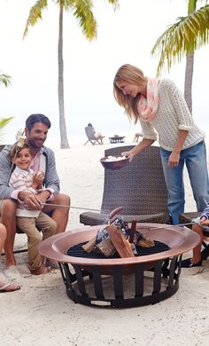 "Our estate-quality 40"" Copper Fire Pit is stylish and made to resist outdoor elements year-round."