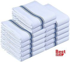 Kitchen Towels Dish Cloth 12 Pack Machine Washable Cotton White Kitchen Dishcloths Towel Tea Towels 15 x 25 Inch by Utopia Towels * You can find more details by visiting the image link. Kitchen Dishes, Kitchen Towels, Open Kitchen, Dish Towels, Tea Towels, Must Have Kitchen Gadgets, Food Storage Boxes, Stainless Steel Types, Shops