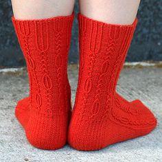 Tiberius Socks by Cookie A  #socks #knit