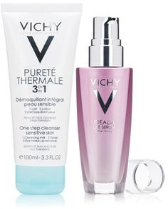 VICHY Idealia Life Serum Gift Set.  A limited-edition cleanser and serum that illuminate and refresh all skin types.