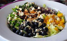 Mango Chicken Salad with Blue Cheese Vinaigrette