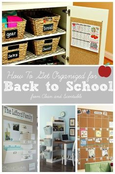 Clean & Scentsible: How to Get Organized for Back to School. Lots of tips and tricks to make your back to school transition smoother!