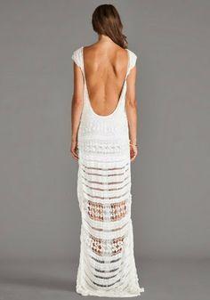 Outstanding Crochet: FARAH Crochet Maxi Dress from Lovers + Friends