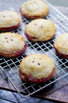 raspberry rhubarb hand pies