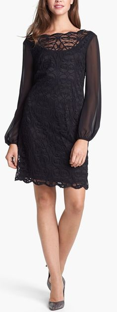 Lace & Chiffon dress by Adrianna Papell