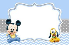 Mickey Mouse Baby Shower Invitations Template