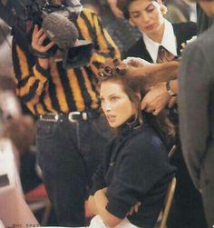 Christy Turlington backstage Runway Show 90's