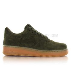 Nike Air Force 1 Low Suede Femme Khaki 749263 300 Image N 1