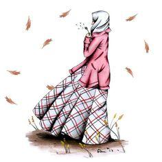 Cute Muslim Couples, Muslim Girls, Cute Anime Couples, Anime Muslim, Muslim Hijab, Girl Cartoon, Cartoon Art, Muslim Pictures, Hijab Drawing