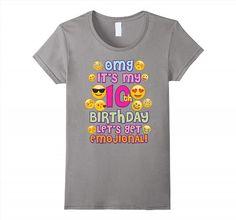 19.95$  Buy now - http://vibbu.justgood.pw/vig/item.php?t=ryevrc10436 - Emoji Shirt For Girls Birthday 10 Ten Year Old Emoji Fun Women 19.95$
