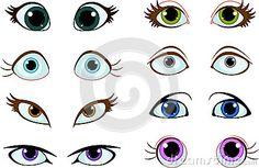 Set of cartoon eyes