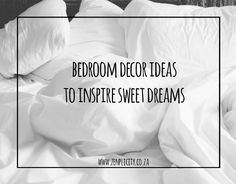 Create a soothing oasis of peace with these inspiring bedroom ideas for your home. Simple Living Blog, Bedroom Ideas, Bedroom Decor, Sweet Dreams, Oasis, Peace, Inspire, Decor Ideas, Inspiration